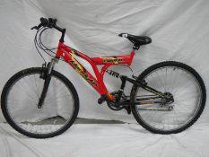 "A ""Klondike Canyon"" 18 speed mountain bike in good condition."