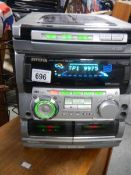 An Aiwa BBE system, all lights up and working.
