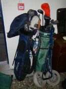 2 lots of good golf clubs.