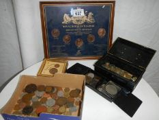 A good mixed lot of old UK and foreign coins.