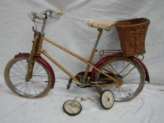 A vintage Mayflower bicycle.