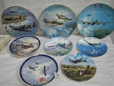 8 aircraft related collector's plates being 3 Coalport, 2 Royal Doulton and 3 Wedgwood.