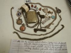 A mixed lot of interesting items including 171 grams of silver.