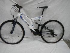 A Viper Reflex bicycle duel suspension geared mountain bike.