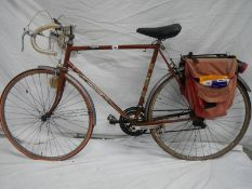 A mid 1970's Raleigh Magnum 10 speed racing bike.