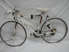 A Raleigh Sensor 1970's racing bike with built in speedo and five function integrated computer,