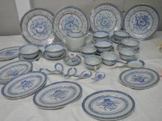 A good lot of mid 20th century blue and white china, approximately 30 items.