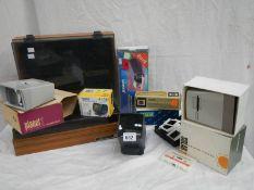 2 Cassette trays, film slide cases, slide viewers etc.