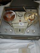 A Philips reel to reel tape recorder.