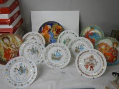 Eleven Collector's plates including Spode, Christmas etc., some boxed.