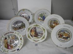 6 collector's plates including Coalport, Aynsley, Worcester.