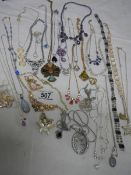 Approximately 30 assorted necklaces, all in good condition.