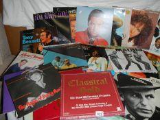 A quantity of LP records including Elvis etc.