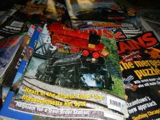 A quantity of train magazines.