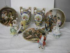 A mixed lot of 20th century ceramics.