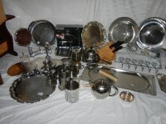 A good lot of stainless steel and other home wares.