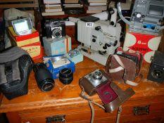 A good lot of camera's and projectors.