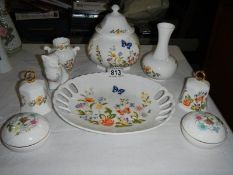 A quantity of aynsley china items.