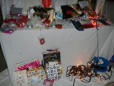 A mixed lot of Christmas decorations.