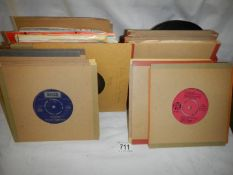 In excess of 60 78 rpm records, some with sleeves and some without.