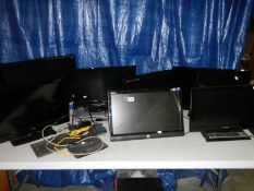 A mixed lot of televisions, monitors etc.
