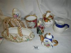 A mixed lot of Victorian and later ceramics.