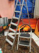 2 step ladders.