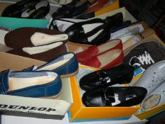 12 pairs of new ladies shoes, size 7 -8.