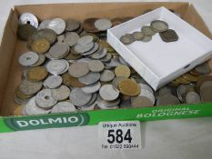 A mixed lot of foreign coins.