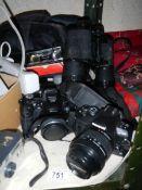 A large lot of digital camera's.