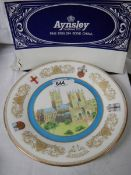 A boxed Aynsley Lincoln Cathedral commemorative plate.