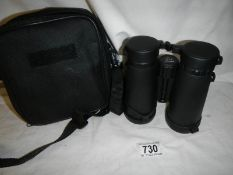 A cased pair of Viking 8 x 24 binoculars.