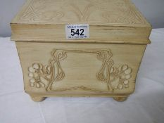 A good quality Macintosh style jewellery box, 24 cm 2ide, 20 cm deep, 20 cm high.