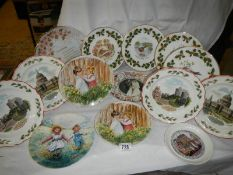 A quantity of collector's plates including Wedgwood, (some with boxes).