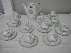 22 pieces of Noritake china tea ware including teapot and water jug.