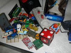 A good lot of play worn cars, toys,
