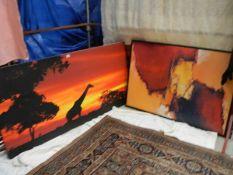 2 large prints, 160 x 80 cm and 120 x 86 cm.