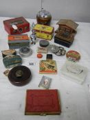 An interesting lot including advertising items, boxes, Book of Common Prayer etc.
