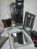 4 good quality mirrors and a gold frame measuring 63 x 53 cm.