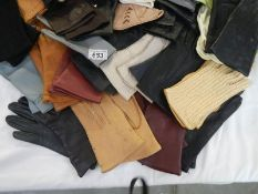 31 good pairs of gloves including leather.