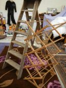 A good vintage wooden step ladder and a clother airer.