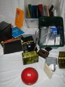 A good large lot of office stationary including folders, pens,