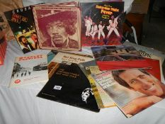 A huge lot of LP records including The Carpenters, some mono Nat King Cole and Andy Williams,