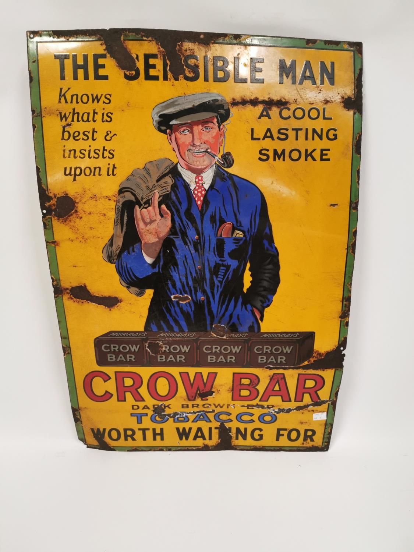 Lot 329 - Sensible Man Crow Bar tobacco advertising sign.