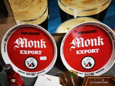 Two Younger's Monk Export advertising tray.