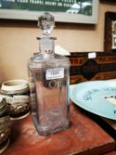 Old Comber whiskey advertising decanter.