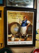 John D'Arcy & Sons Anchor Brewery Dublin framed advertising print.