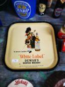 White Label Dewar's Scotch Whiskey drink's advertising tray