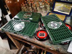 Three drip trays