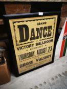 Grand Dance framed poster.